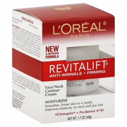 L'Oreal Paris Revitalift Anti-Wrinkle and Firming Face/Neck Contour Cream Perspective: front