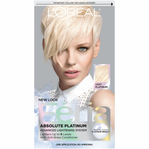 L'Oreal Feria Absolute Platinum Very Platinum Hair Color Perspective: front