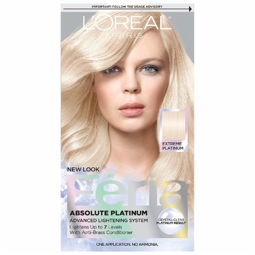 L'Oreal Feria Absolute Platinums Extreme Platinum Hair Color Kit Perspective: front