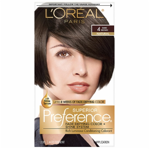 L'Oreal Paris Superior Preference Dark Brown 4 Permanent Hair Color Perspective: front