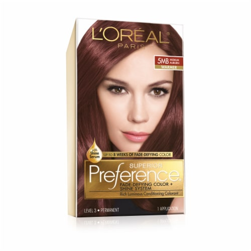 L'Oreal Paris Superior Preference 5MB Medium Auburn Hair Color Perspective: front