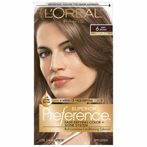 L'Oreal Paris Superior Preference Natural Light Brown 6 Permanent Hair Color Perspective: front