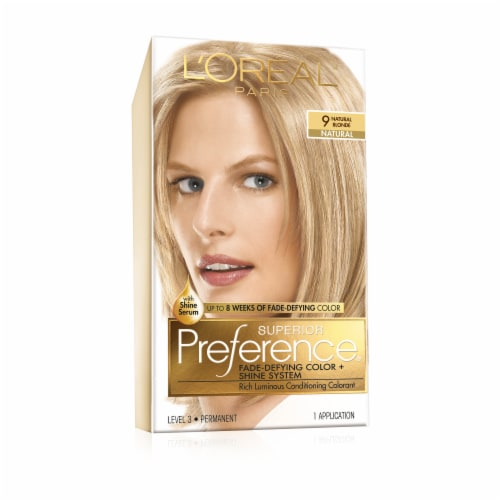 L'Oreal Paris Superior Preference Natural Blonde 9 Hair Color Perspective: front