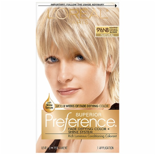 L'Oreal Paris Superior Preference 9.5NB Lightest Natural Blonde Permanent Hair Color Kit Perspective: front