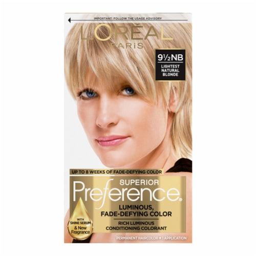 L'Oreal Paris Superior Preference Permanent Hair Color Kit - 9.5NB Lightest Natural Blonde Perspective: front
