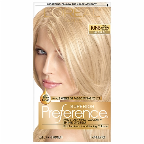 L'Oreal® Paris Superior Preference® Ultra Natural Blonde 10NB Hair Color Kit Perspective: front