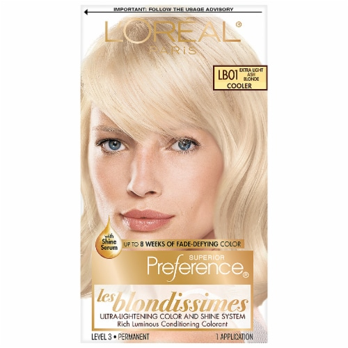 L'Oreal Paris Preference LB01 Extra Light Ash Blonde Hair Color Perspective: front