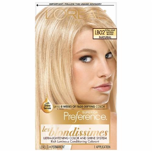 L'Oreal Paris Preference LB02 Extra Light Natural Blonde Hair Color Perspective: front