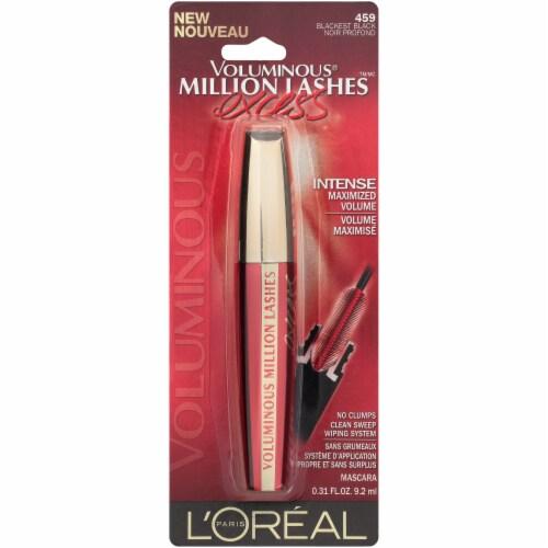 L'Oreal® Paris Voluminous Million Lashes Excess 459 Blackest Black Mascara Perspective: front