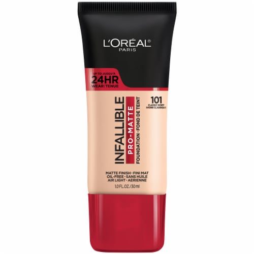 L'Oreal Paris Infallible Pro-Matte 101 Classic Ivory Foundation Perspective: front
