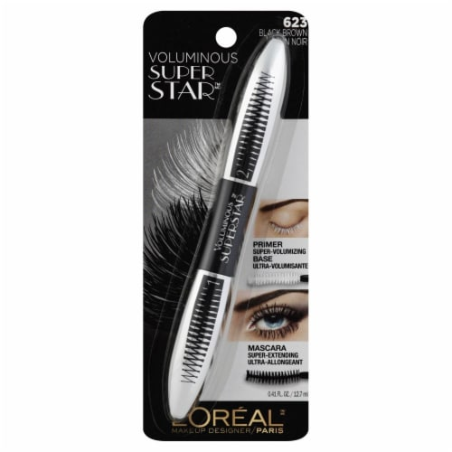L'Oreal Paris Voluminous Superstar Black Brown Mascara Perspective: front