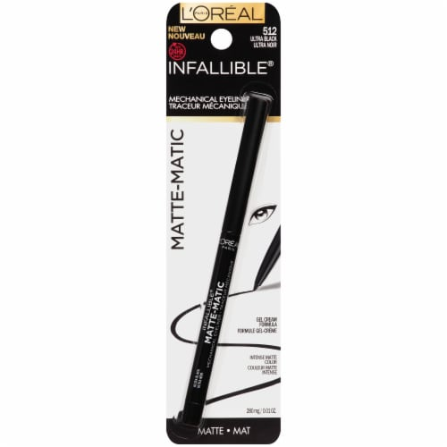L'Oreal Paris Infallible Matte-Matic 512 Ultra Black Mechanical Eyeliner Perspective: front