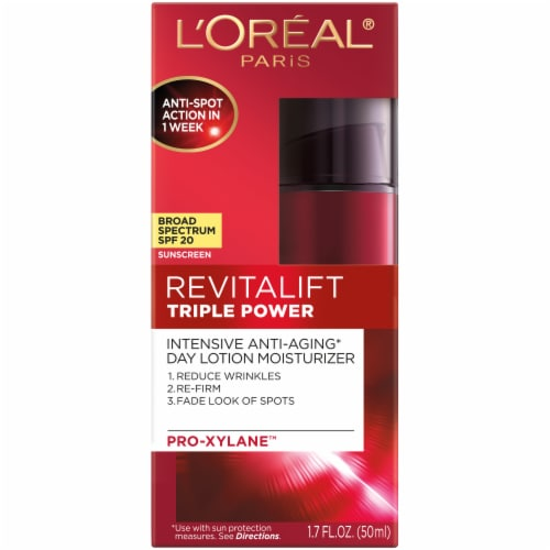 L'Oreal Paris RevitaLift Triple Power Intensive Anti-Aging Day Lotion with SPF 20 Perspective: front