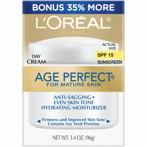 L'Oreal Paris Age Perfect Mature Skin Hydrating Moisterizer Day Cream with SPF 15 Perspective: front