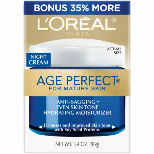 L'Oreal Paris Age Perfect Mature Skin Hydrating Moisterizer Night Cream Perspective: front