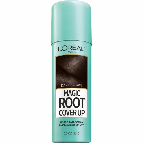 L'Oreal Paris Magic Root Cover Up Temporary Gray Concealer Spray - Dark Brown Perspective: front