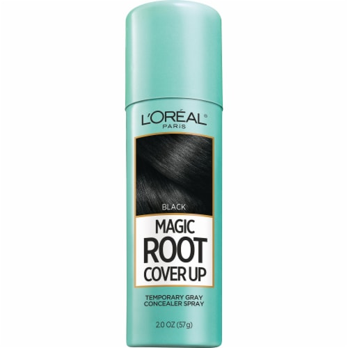 L'Oreal Paris Magic Root Cover Up Black Temporary Gray Concealer Spray Perspective: front