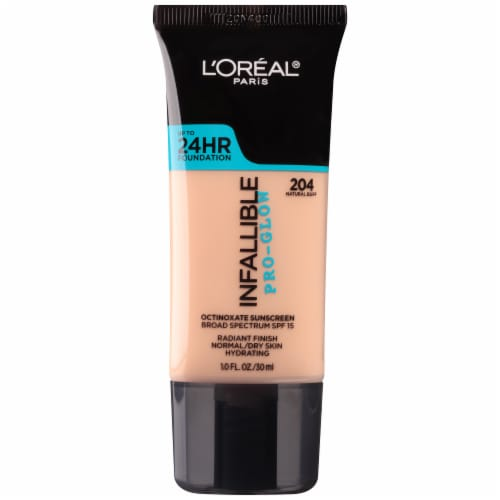 L'Oreal Paris Infallible Pro Glow 204 Natural Buff Foundation Perspective: front