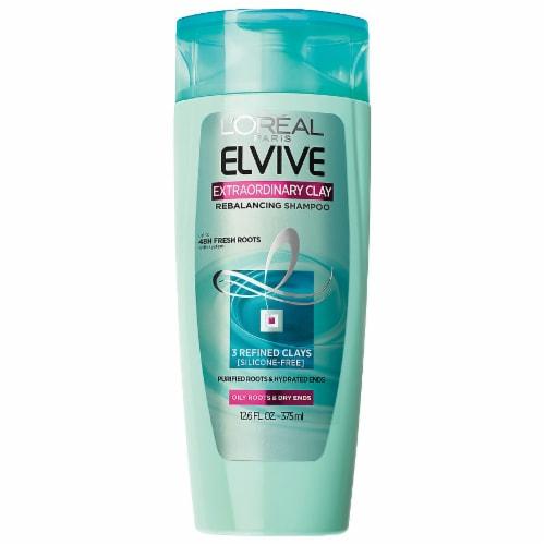 L'Oreal Paris Elvive Extraordinary Clay Rebalancing Shampoo Perspective: front