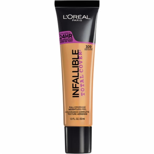 L'Oreal Paris Infallible Total Cover 309 Caramel Beige Foundation Perspective: front