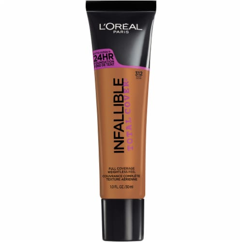 L'Oreal Paris Infallible Total Cover 312 Cocoa Foundation Perspective: front