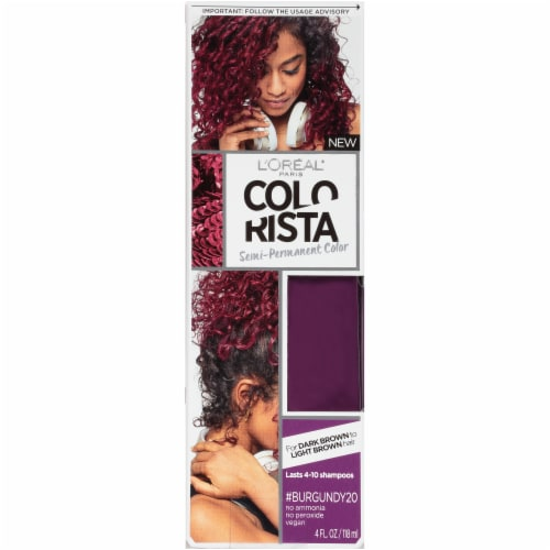 L'Oreal Paris Colorista Burgundy 20 Semi-Permanent Hair Color Perspective: front