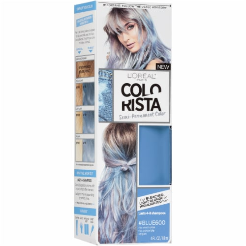 L'Oreal Paris Colorista 600 Blue Semi-Permanent Color Perspective: front