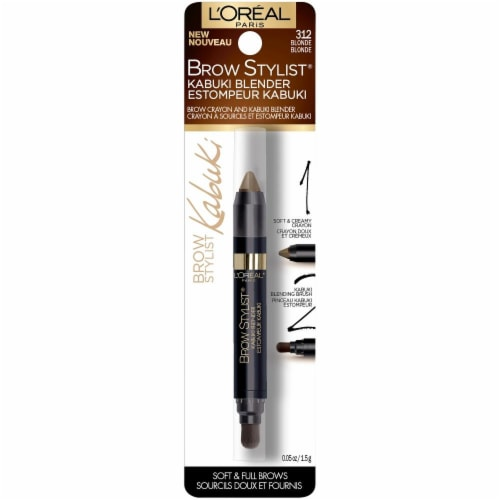 L'Oreal Paris Brow Stylist 312 Blonde Kabuki Blender Perspective: front