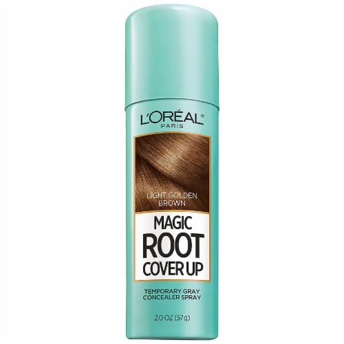 L'Oreal Paris Magic Root Cover Up Light Golden Brown Temporary Gray Concealer Spray Perspective: front