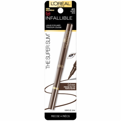 L'Oreal Paris Infallible Super Slim 401 Brown Liquid Eyeliner Perspective: front
