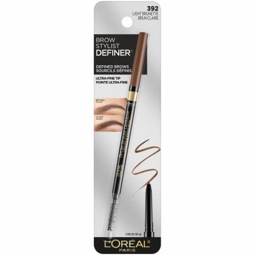 L'Oreal Paris Brow Stylist Definer 392 Light Brunette Ultra-Fine Tip Shaping Pencil Perspective: front