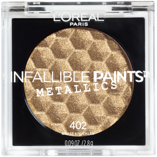 L'Oreal Paris Infallible Paints Metallics 402 Brass Knuckles Eye Shadow Perspective: front