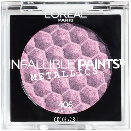L'Oreal Paris Infallible Paints Metallics Riche Eye Shadow - 406 Violet Luster Perspective: front