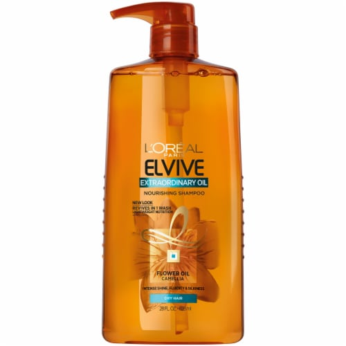 L'Oreal Paris Elvive Extraordinary Oil Nourishing Shampoo Perspective: front