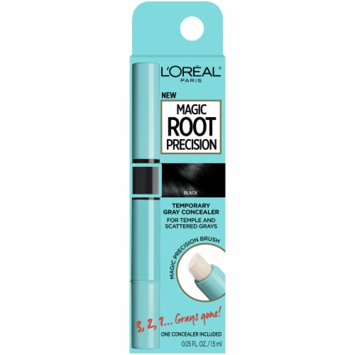 L'Oreal Paris Magic Root Precision Black Temporary Gray Concealer Perspective: front