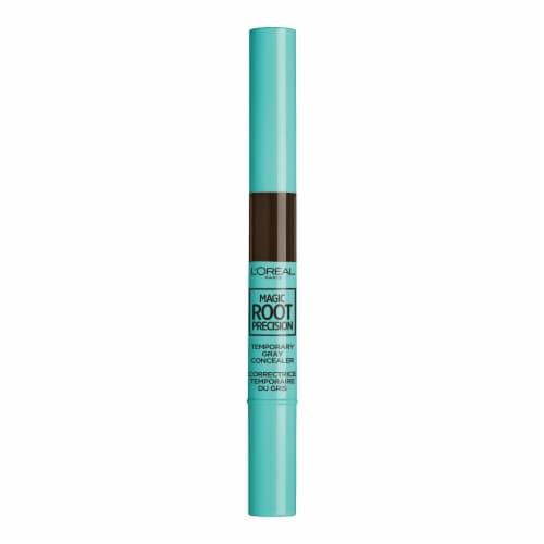 L'Oreal Paris Magic Root Precision 4 Dark Brown Temporary Gray Concealer Perspective: front