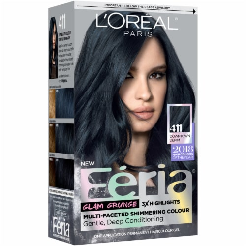 L'Oreal Paris Feria 411 Downtown Denim Hair Color Perspective: front