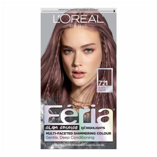 L'Oreal Paris Feria 721 Dusty Mauve Hair Color Perspective: front