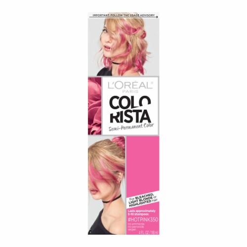 L'Oreal Paris Colorista Hot Pink 350 Semi-Permanent Hair Color Perspective: front