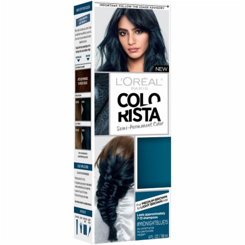 L'Oreal Paris Colorista Midnight Blue 15 Semi-Permanent Hair Color Perspective: front