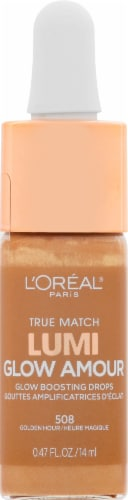 L'Oreal Paris True Match Lumi Glow Amour 508 Golden Hour Glow Boosting Drops Perspective: front