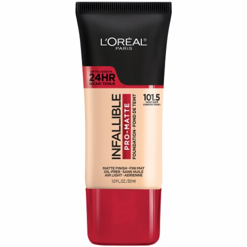 L'Oreal Paris Infallible Pro-Matte 101.5 Ivory Buff Foundation Perspective: front