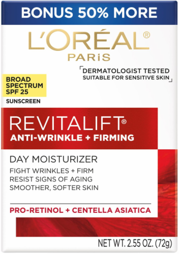 L'Oreal Paris Revitalift Anti-Wrinkle and Firming Day Moisturizer Perspective: front
