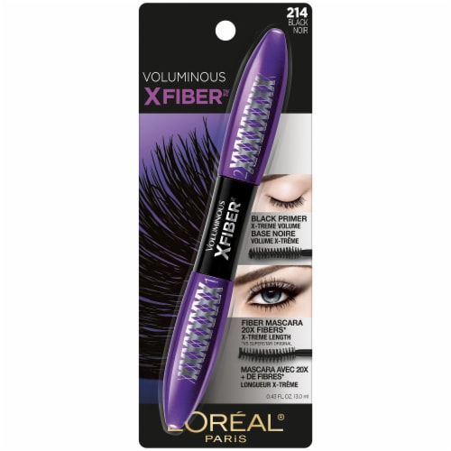 L'Oreal Paris Voluminous X Fiber Black Washable Mascara Perspective: front