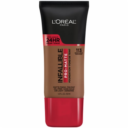 L'Oreal Paris Infallible Pro-Matte 113 Brown Suede Bisque Foundation Perspective: front