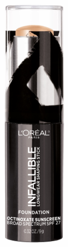L'Oreal Paris Infallible Longwear Shaping Buff Stick Foundation Perspective: front