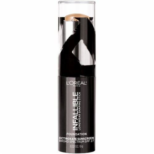 L'Oreal Paris Infallible Longwear Shaping Stick Tan Foundation Perspective: front