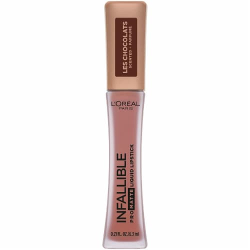 L'Oreal Paris Infallible Les Chocolats Dose of Cocoa Pro Matte Liquid Lipstick Perspective: front