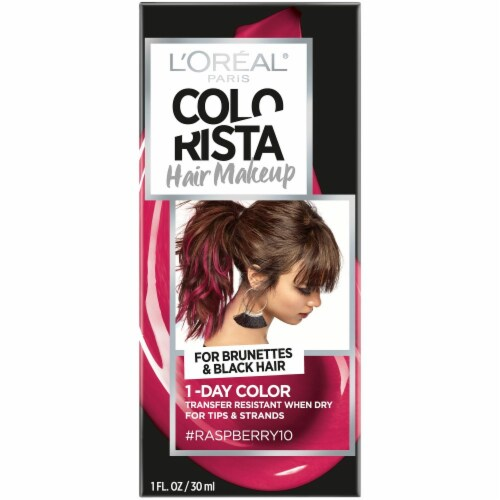 L'Oreal Paris Colorista 1-Day Raspberry 10 Hair Color Perspective: front