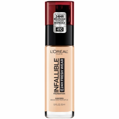 L'Oreal Paris Infallible 24 Hour Fresh Wear Lightweight Ivory 410 Foundation Perspective: front